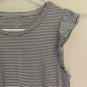 Banana Republic Striped Cap Sleeved Tee Shirt!!